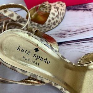 KATE SPADE Animal Print Wedge With Box & Dust Bag